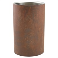 Click for a bigger picture.Rust Effect Wine Cooler 12cm Dia x 20cm High