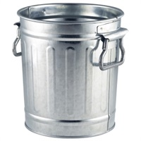 Click for a bigger picture.Miniature Galvanised Bin 14x12x15cm