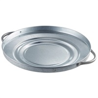 Click for a bigger picture.Galvanised Steel Bin Lid 24.5cm Dia