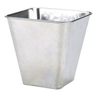 Click for a bigger picture.Galvanised Steel Flared Serving Tub 10 x 10 x 10cm