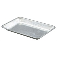 Click for a bigger picture.Galvanised Steel Tray 20x14x2cm