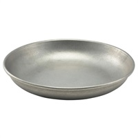 Click for a bigger picture.Vintage Steel Coupe Plate 20cm