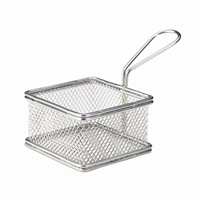 Click for a bigger picture.Serving Fry Basket Square 9.5X9.5X6cm