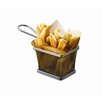 Click for a bigger picture.Serving Fry Basket Rectangular 12.5 X 10 X 8.5cm