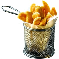 Click for a bigger picture.Serving Fry Basket Round 9.3 X 9cm